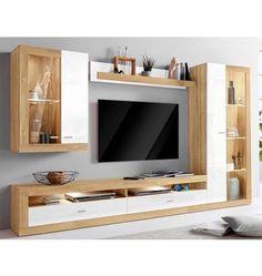 Living Room Wall Units, Living Room Tv Unit Designs, Living Room Decor, Living Walls, Tv Unit Interior Design, Tv Unit Furniture Design, Modern Tv Room, Modern Tv Wall Units, Tv Unit Decor