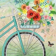 Bicycle Bouqet Digital Art
