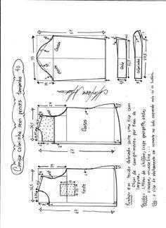 Patrón de una fina y linda camisa para mujer. Tallas desde la 36 hasta la 56. Talla 36: Talla 38: Talla 40: Talla 42: Talla 44: Talla 46: Talla 48: Talla 50: Talla 52: Talla 54: Talla 56: Fuente: http://www.marlenemukai.com.br/ Patrón blusa con aberturaPatrón Camiseta mini-vestidoPatrón Camisa entallada de mujerPatrón Blusa …
