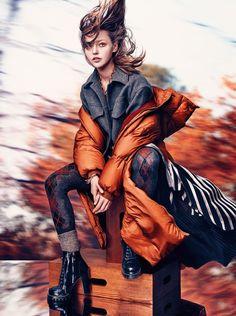Sasha Pivovarova by Craig McDean for Vogue UK October 2016