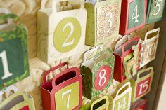 Vintage Christmas Decorations - Make an Advent Calendar - vintagechristmasdecorations's posterous