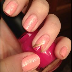 princess aurora inspired nails by me :)