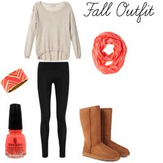 This is a cute fall outfit:)