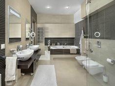 Wohnideen Badezimmer Ohne Fenster Beige Braune Fliesen Badewanne