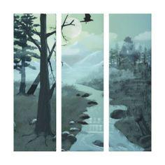 Appalachian Trail Creek Wrapped Canvas Canvas Print #zazzle #wrappedcanvas #appalachiantrail