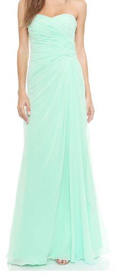 Long mint dress