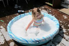 The Art of Outdoor Play: Best Bubble Bath Ever! from The Artful Child