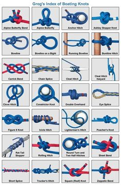 Animated Knots by Grog | How to Tie Knots | Fishing, Boating, Climbing, Scouting, Search and Rescue, Household, Decorative, Rope Care