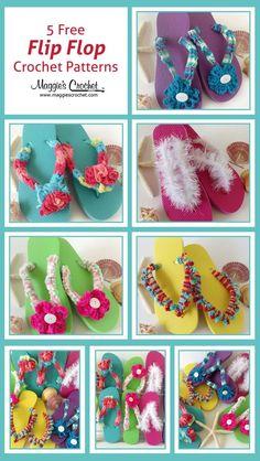 Five Free Flip-Flop Crochet Patterns