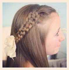 Adorable Hairstyles For School Girls - Cute Haircuts Ideas Girls School Hairstyles, Side Hairstyles, Little Girl Hairstyles, Ponytail Hairstyles, Trendy Hairstyles, Teenage Hairstyles, Hairstyle Ideas, Updos, Hairstyle Photos