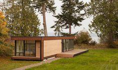 An 825 square feet home on Marrowstone Island, Washington. Designed by Method Homes.
