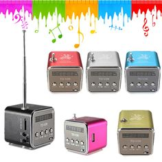 Mini Speaker Radio Wireless Portable Micro USB Stereo Speakers Ubwoofer Column Super Bass Altavoz FM Radio Receiver