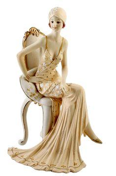 RP: Art Deco Broadway Belles Lady Figurine - Peach | eBay.co.uk