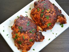 honey spice chicken thighs - We're having this tonight. Emma will tell you how it goes