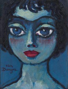 View Symphonie Bleue By Kees Van Dongen; Oil on panel; Access more artwork lots and estimated & realized auction prices on MutualArt. Henri Matisse, Dutch Artists, Famous Artists, Art And Illustration, Maria Emilia, Art Bleu, Figurative Kunst, Dutch Painters, Inspiration Art