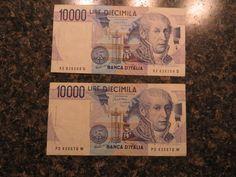 Italy 10000 Lire, 1984, VF x 2