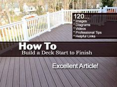 How to Build a Deck Start to Finish