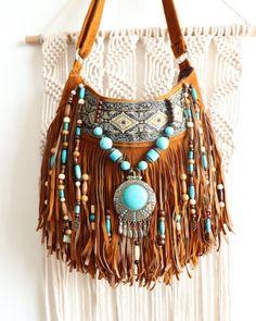 Turquoise magic fringe purse, boho style embellished friend bag, unique gifts Source by Boho Hippie, Estilo Hippie Chic, Hippie Purse, Hippie Bags, Bohemian Mode, Boho Bags, Estilo Boho, Hippie Style, Boho Style
