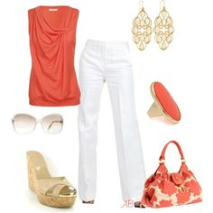 I have an obsession with coral-ly colored clothing and accessories!