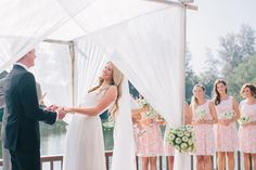 A gorgeous outdoor wedding canopy. Image by Corbin Gurkin Photography.