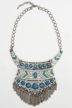 Turquoise Toga Necklace
