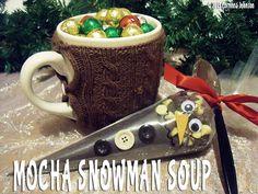 Mocha Snowman Soup  #homemade #gifts #coffee #chocolate #mocha