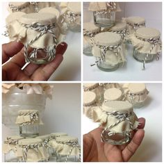 Mini Jam Jars Wedding Favors Set of 12 by TheLovelyMemories, $20.00