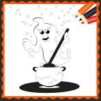 Halloween Ghost Coloring Worksheet and Halloween Song for Kids!