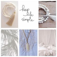 keep life simple beachcomber etsy shop white bohemian jewelry tassel necklace boho bracelets