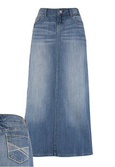 e13ec371f2 See more. Long jean skirts! Modest Skirts, Modest Wear, Cute Skirts, Long  Denim Skirts