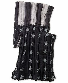 Denim & Supply Ralph Lauren Black and Grey American Flag Scarf - Hats, Gloves & Scarves - Men - Macy's