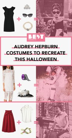 Audrey Hepburn has many recognizable looks to choose from this Halloween!