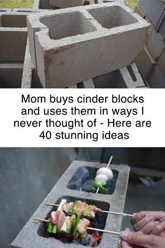 These DIY cinder block projects will help you transform your home. These repurpo… These DIY cinder block projects will help you transform your home. These repurposing ideas and upcycling project ideas are great for any DIY enthusiast! Wine Bottle Crafts, Mason Jar Crafts, Mason Jar Diy, Medicine Bottle Crafts, Diy Projects To Try, Home Projects, Craft Projects, Diy Upcycling Projects, Diy Projects Recycled
