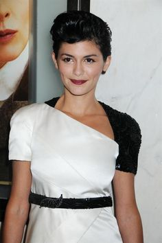 I think she is so adorable no matter what she is wearing. audrey tautou