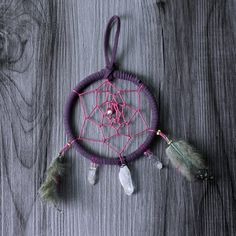 Crystal Flight Dreamcatcher - in Diameter by WildwoodCeramics on Etsy Name Change, Dream Catcher, Crystals, Creative, Handmade Items, Etsy, Group, Amazing, Board