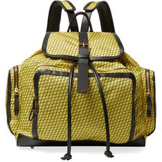 Pierre Hardy Pierre Hardy Women's Printed Nylon Large Backpack -... ($749) ❤ liked on Polyvore featuring bags, backpacks, yellow, nylon drawstring backpack, backpacks bags, yellow bag, draw string bag and drawstring bag