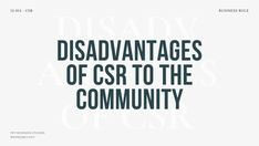 Exam Questions for the disadvantages of Corporate Social Responsibility (CSR) to the Community: It can also be the disadvantages of Corporate Social Investment (CSI) to Communities · Discuss the negative effects of CSR for local communities ·Analyse the disadvantages of CSI on communities · Critically assess the role of CSR on communities · Explain the impact of CSR on South African communities · Grade 12, Final Exam Preparation Questions, by Business Studies Teacher, Nonjabulo Tshabalala. Past Exam Papers, Past Exams, Exam Revision, Business Studies, Essay Questions, Corporate Social Responsibility, Study Notes, Essay Writing