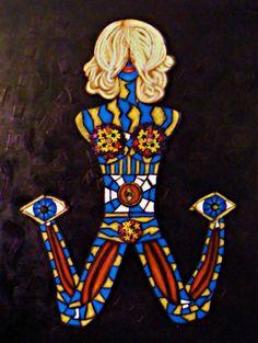 """For Sale: Zipped, Shattered, Broken, Beautiful by Penelope Przekop   $1,000   36""""w 48""""h   Original Art   https://www.vangoart.co/penelopeprzekop/zipped-shattered-broken-beautiful @VangoArt"""