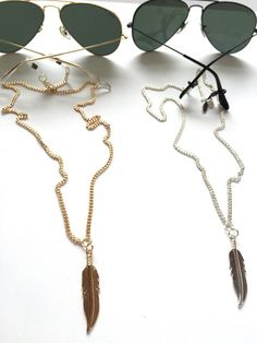 Feather Drop Backlace. Sunglass chains with a flare. New styles are up!