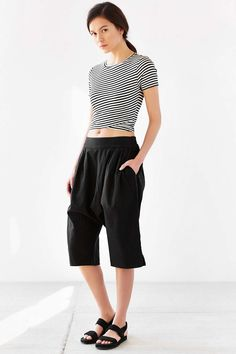 Silence + Noise Drop-Crotch Culotte - Urban Outfitters