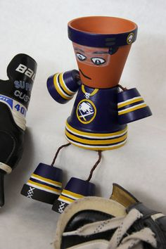 Customized Sports team clay pot person by SchumArt on Etsy, $18.00