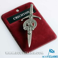 Chrichton Clan Crest Kilt Pin