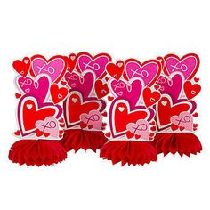 Heart honeycomb centerpieces - Valentine's Day Party Decorations - Holly Day
