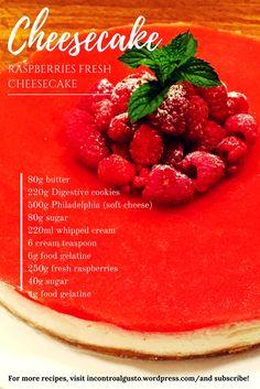 Raspberries Fresh Cheesecake