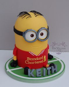 Minion Dave is a Liverpool FC fan! - by Deb Williams Cakes
