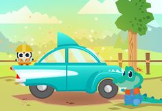 """Mochu Builds Cars"" is now out and available for free download! Another great language-immersion app for toddlers that teaches Mandarin, Japanese, Korean, and Hindi! #Kadho"
