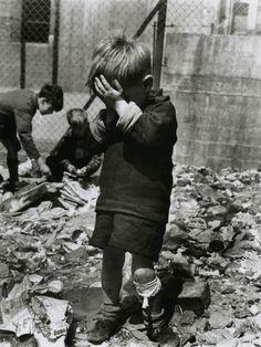 Roger Mayne - Boy on a Bombsite, Waverley Walk, Harrow Road area, 1957