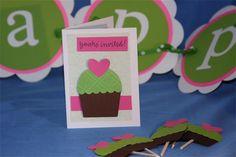 Cupcake theme birthday