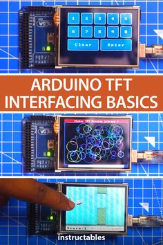 Arduino TFT Interfacing Basics - Learn the basics of using a inch TFT LCD shield with an Arduino. By using this color TFT LCD shield we can show characters, strings, button interfacing, bitmap images, etc. on the color TFT LCD. Led Cube Arduino, Arduino Robot Arm, Arduino Radio, Arduino Wireless, Arduino Programming, Electrical Projects, Electronics Projects, Useful Arduino Projects, Ideas