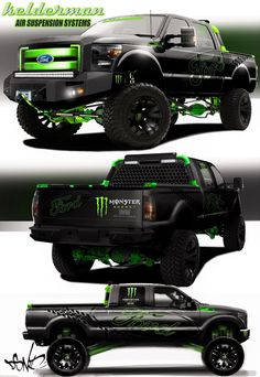 2013 Ford F-250 XLT Crew Cab SEMA 2012 by Kelderman Air Suspension.    http://kelderman.com/taxonomy/term/27%2C26%2C76